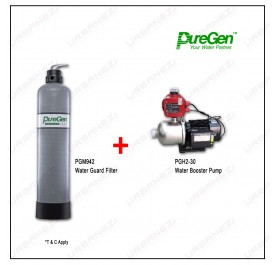 Puregen PGM942 Water Guard Filter + Puregen PGH230 Booster Pump