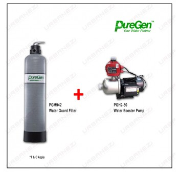 Puregen PGM942 Water Guard Filter + Puregen PGH230 Booster Pump