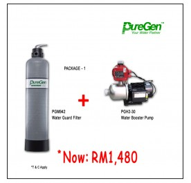 PWP Puregen PGM942 Water Guard Filter + Puregen PGH230 Booster Pump