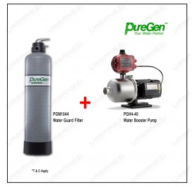 Puregen PGM1044 Water Guard Filter + Puregen PGH440 Booster Pump