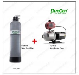 Puregen PGM1044 Water Guard Filter + Puregen PGH440 Booster Pump