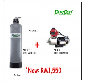 PWP Puregen PGM1044 Water Guard Filter + Puregen PGH230 Booster Pump