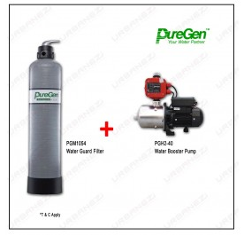 Puregen PGM1054 Water Guard Filter + Puregen PGH240 Booster Pump