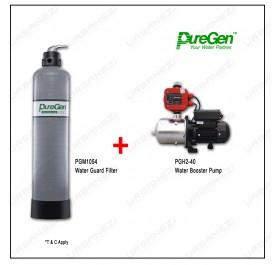 Puregen PGM1054 Water Guard Filter + Puregen PGH240 Booster Pump