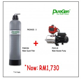 PWP Puregen PGM1054 Water Guard Filter + Puregen PGH240 Booster Pump