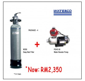 PWP Waterco W250 Micron Deep Bed Filter + Puregen PGH230 Booster Pump