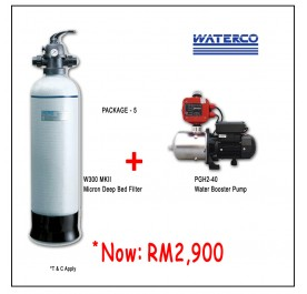 PWP Waterco W300-MKII Micron Deep Bed Filter + Puregen PGH240 Booster Pump