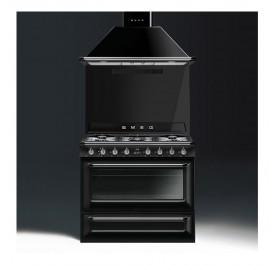 Smeg Victoria Combi Set - KT90BLE Hood + TR90BL9 Professional Cooker Range Cooker