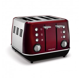 Morphy Richards 240108 Evoke Core 4 Slice Toaster - Red
