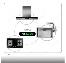 Fotile Hood EMS9020 + GAG76202 Gas Hob