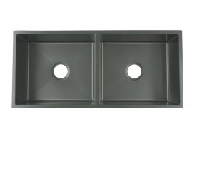 HUN Undermount Double Bowl Nanotech Kitchen Sink HKS 312-NANO