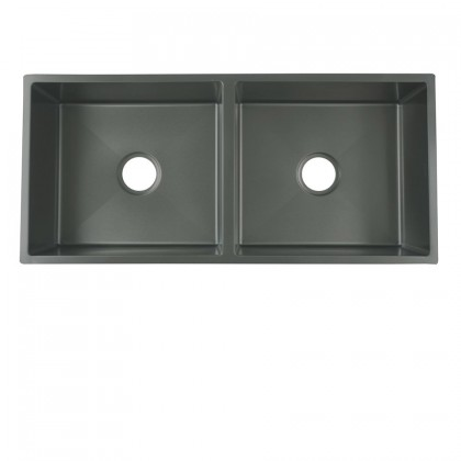 HUN Undermount Double Bowl Nanotech Kitchen Sink HKS 312-NANO