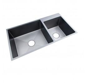 HUN Undermount Double Bowl Nanotech Kitchen Sink HKS 311-NANO