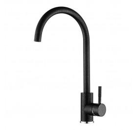 HUN Black Color Pillar Kitchen Tap HWT 9113-C