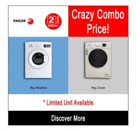 [Combo] Fagor 7kg Washing Machine FE-7010A + Fagor 7kg Cloth Dryer SFM-70ST