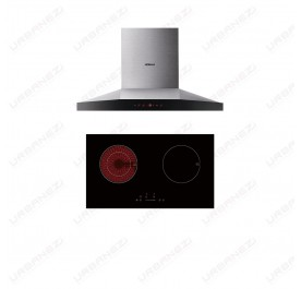 [Duo] Robam A818 Chimney Hood + W270 Hybrid Hob (Induction + Vitroceramic)