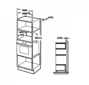 Lebensstil LKMW-2308 20L Built-In Microwave