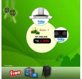 [Raya 1] Beko HCG92940B Chimney Hood + HISW72225SOB Gas Hob