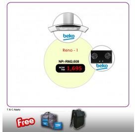 [RENO - 1] Beko HCG92940B Chimney Hood + HISW72225SOB Gas Hob