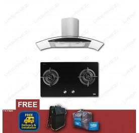 [Flash Sale] Beko HCG92940B Chimney Hood + HISW72225SOB Gas Hob