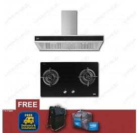 [Flash Sale] Beko HCB93041XB Chimney Hood + HISW72225SOB Gas Hob