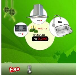 [Raya 2] Fagor 2CPV90X Chimney Hood + FGH720ST Gas Hob