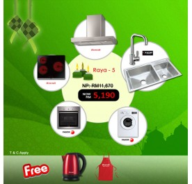 [Raya 5] Brandt BHB6902X Chimney Hood + BPV6320B Vitroceramic + Fagor 6H-114AX Built-In Oven + Fagor FE-7010A Washing Machine