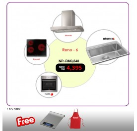 [RENO - 6] Brandt BHB6902X Chimney Hood + BPV6320B Vitroceramic + Fagor 6H-114AX Built-In Oven