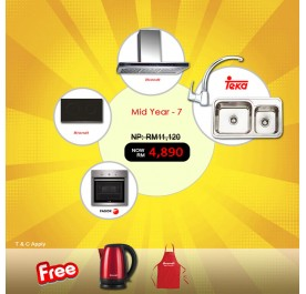 [MidYear - 7] Brandt AD995XC Chimney Hood + BPI6230BL Induction Hob + Fagor 6H-114AX Built-In Oven