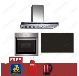 [Flash Sale] Brandt AD995XC Chimney Hood + BPI6230BL Induction Hob + Fagor 6H-114AX Built-In Oven