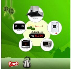 [Raya 7] Lebensstil LKCH9109GBF Chimney Hood + LKGH8502MB Gas Hob + LKBO1012CT Built-In Oven + LKMW2301SS Microwave + Fagor FE-7010A