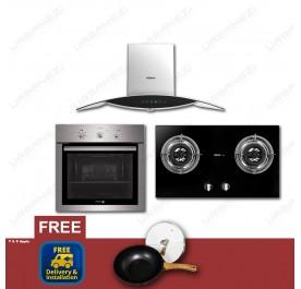 [Flash Sale] Robam A812 Chimney Hood + B716 Gas Hob + Fagor 6H-114AX Built-In Oven
