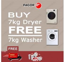 FAGOR - BUY 7kg Dryer FREE 7KG Washer (SFM-70ST + FE7010A)