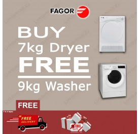 FAGOR - BUY 7kg Dryer FREE 9KG Washer (SFE-700CBA + FE-9214)