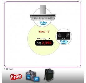 [RENO - 2] Beko HCB93041XB Chimney Hood + HISW72225SOB Gas Hob