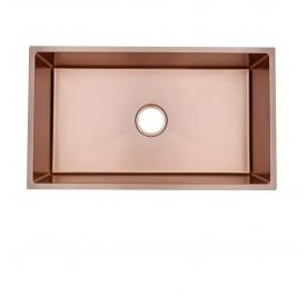 HUN HKS 509-NANO ROSE GOLD Undermount Jumbo Single Bowl Nanotech Kitchen Sink