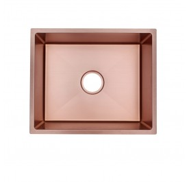 HUN HKS 508-NANO ROSE GOLD Undermount Medium Size Single Bowl Nanotech Kitchen Sink