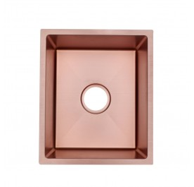 HUN HKS 507-NANO ROSE GOLD Undermount Small Size Single Bowl Nanotech Kitchen Sink