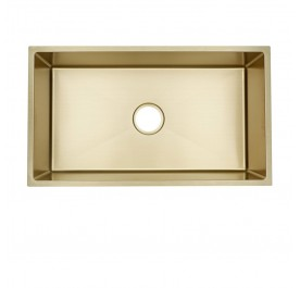HUN HKS 409-NANO GOLD Undermount Jumbo Single Bowl Nanotech Kitchen Sink