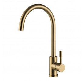 HUN HWT 9213-HC Pillar Kitchen Mixer Tap (Nano Gold)