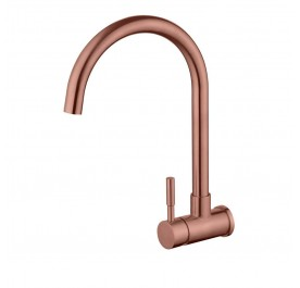 HUN HWT 9315-A Wall Mounted Kitchen Cold Tap (Nano Rose Gold)