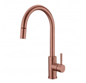 HUN HWT-640 Pull-Out Kitchen Mixer Tap (Nano Rose Gold)