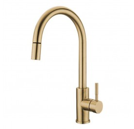 HUN HWT-630 Pull-Out Kitchen Mixer Tap (Nano Gold)