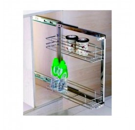 2 Tier Side Mounted Pull-Out Basket (Stainless Steel)