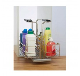 Removable Under Sink Multi Purpose Utility Pull-Out Basket (Stainless Steel)