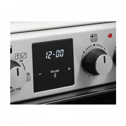 Belling FSE608MFc 60cm Freestanding Double Oven Multifunction Electric Range Professional Cooker With Ceramic Hob - Stainless Steel 444444803