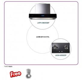 Lebensstil LKPH9603GBF 90cm Professional Hood + LKGH8302DP 2-Burner Gas Hob