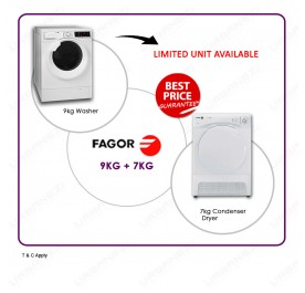 Fagor FE-9214 9kg Front Loading Washing Machine + Fagor SFE-700CBA 7kg Condenser Cloth Dryer Combo Set