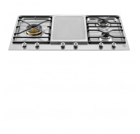 Bertazzoni PM3630GX Professional Series 90cm 3-Burner Gas, 1-Griddle Built-In Hob