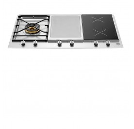 Bertazzoni PM361IGX Professional Series 90cm 1-Burner Gas, 1-Griddle, 1-Induction Built-In Hob
